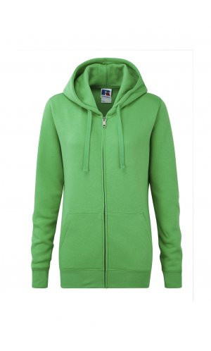 Ladies Authentic Zipped Hood [Apple, XS]
