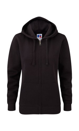 Ladies Authentic Zipped Hood [Black, XS]
