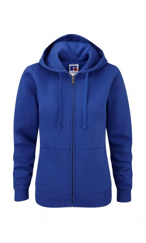 Ladies Authentic Zipped Hood [Bright Royal, XS]