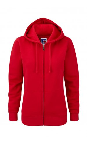 Ladies Authentic Zipped Hood [Classic Red, XS]