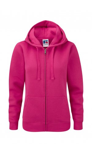 Ladies Authentic Zipped Hood [Fuchsia, XS]