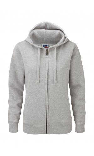 Ladies Authentic Zipped Hood [Light Oxford (Heather), XS]