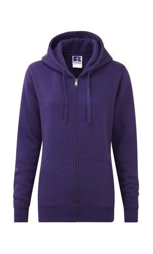 Ladies Authentic Zipped Hood [Purple, XS]