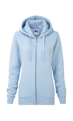 Ladies Authentic Zipped Hood [Sky, XS]