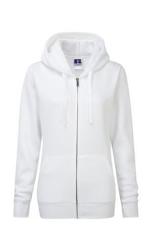 Ladies Authentic Zipped Hood [White, XS]