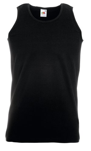 ATHLETIC VEST, Fotl, Tank-Top   [SCHWARZ, S]
