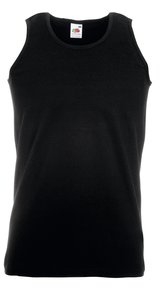 ATHLETIC VEST, Fotl, Tank-Top   [SCHWARZ, M]