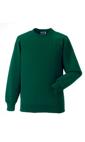Kids Raglan-Sweatshirt [Bottle Green, 90]