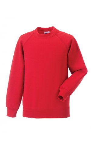 Kids Raglan-Sweatshirt [Bright Red, 90]