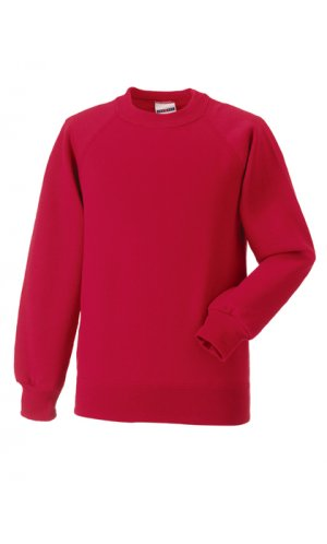 Kids Raglan-Sweatshirt [Classic Red, 90]