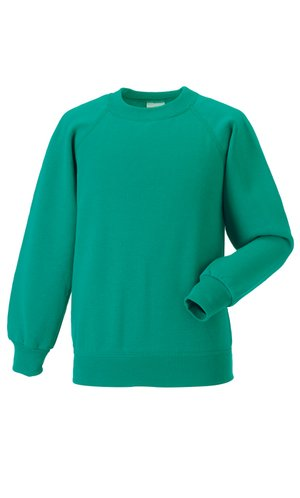 Kids Raglan-Sweatshirt [Winter Emerald, 90]