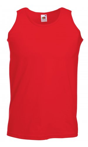 ATHLETIC VEST, Fotl, Tank-Top   [ROT, S]