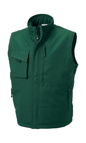 Workwear Bodywarmer [Bottle Green, XS]