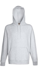 LIGHTWEIGHT HOODED SWEAT, Fotl, Sweats    [Graumeliert, XL]