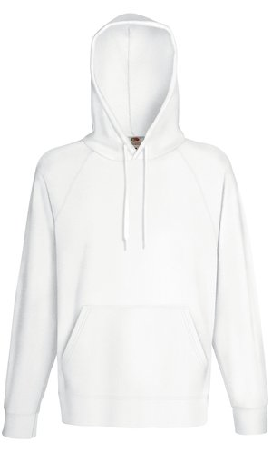 LIGHTWEIGHT HOODED SWEAT, Fotl, Sweats    [Weiß, S]