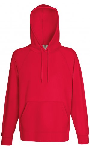 LIGHTWEIGHT HOODED SWEAT, Fotl, Sweats    [Rot, S]