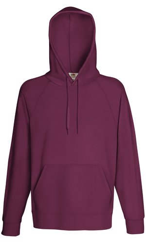 LIGHTWEIGHT HOODED SWEAT, Fotl, Sweats    [Burgund, S]