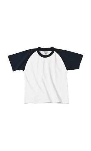 T-Shirt Base-Ball / Kids [White Navy, 134/146]