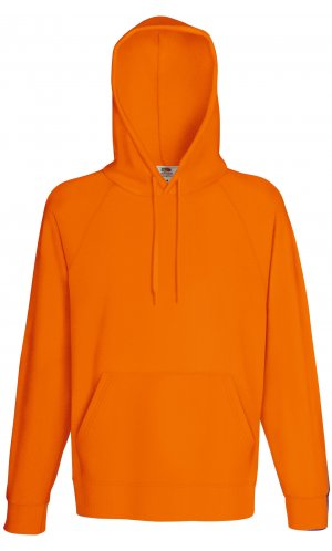 LIGHTWEIGHT HOODED SWEAT, Fotl, Sweats    [Orange, S]
