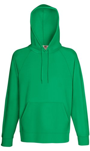 LIGHTWEIGHT HOODED SWEAT, Fotl, Sweats    [Maigrün, S]