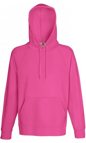 LIGHTWEIGHT HOODED SWEAT, Fotl, Sweats    [Fuchsia, S]