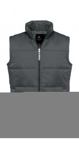 Bodywarmer / Men [Dark Grey (Solid), 2XL]