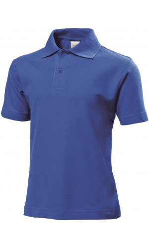 Short Sleeve Polo for children [Bright Royal, 110/116]