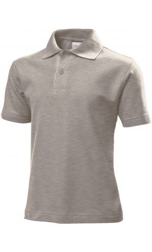 Short Sleeve Polo for children [Grey Heather, 110/116]