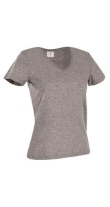 Classic-T V-Neck for women [Grey Heather, S]