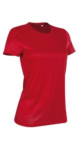 Active Sports-T Crew Neck for women [Crimson Red, M]
