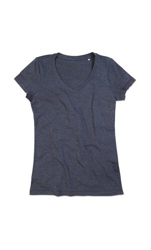 Lisa V-Neck for women [Charcoal Heather, S]