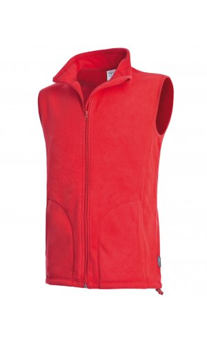 Active Fleece Vest [Scarlet Red, S]