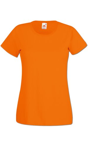 Lady-Fit Valueweight T, Fotl   [Orange, XS]