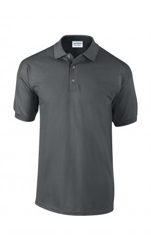 Ultra Cotton? Piqué Polo [Charcoal (Solid), M]
