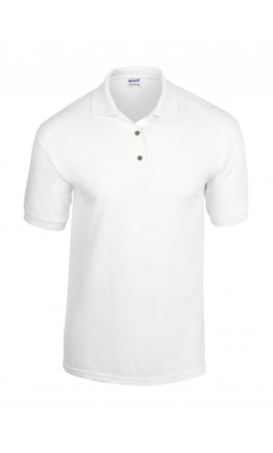 DryBlend® Jersey Polo [White, S]