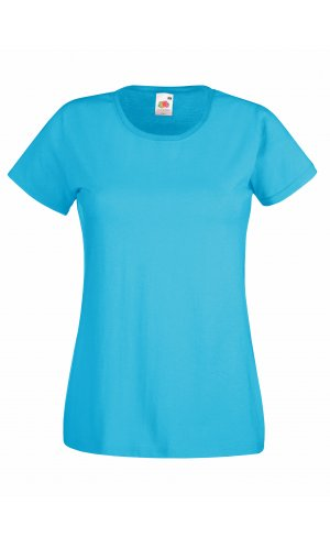 Lady-Fit Valueweight T, Fotl   [Azurblau, XS]