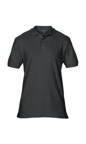 Premium Cotton® Double Piqué Polo [Black, S]