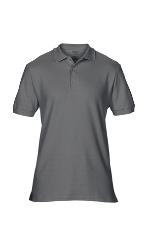 Premium Cotton® Double Piqué Polo [Charcoal (Solid), S]
