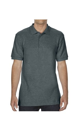 Premium Cotton® Double Piqué Polo [Dark Heather, S]