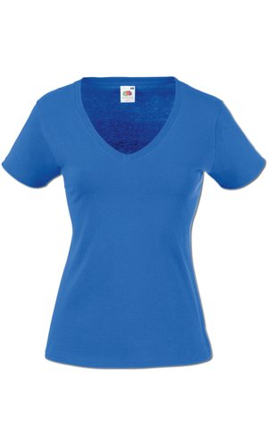 Lady-Fit V-Neck Valueweight, Fotl   [Royal, XS]