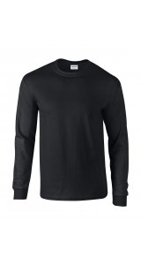 Ultra Cotton? Long Sleeve T- Shirt [Black, XL]