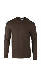 Ultra Cotton? Long Sleeve T- Shirt [Dark Chocolate, XL]
