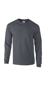 Ultra Cotton? Long Sleeve T- Shirt [Dark Heather, XL]