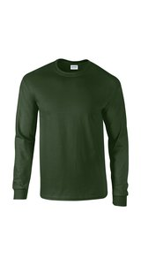 Ultra Cotton? Long Sleeve T- Shirt [Forest Green, XL]