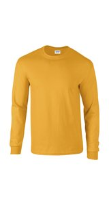 Ultra Cotton? Long Sleeve T- Shirt [Gold, XL]