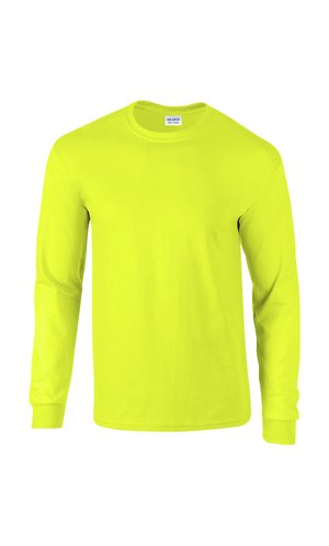 Ultra Cotton? Long Sleeve T- Shirt [Safety Green, L]
