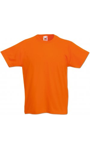 Kids Valueweight T, Fotl   [Orange, 104]
