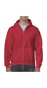 Heavy Blend Full Zip Hooded Sweatshirt [Red, 2XL]