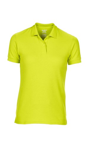 DryBlend® Ladies` Double Piqué Polo [Safety Green, 2XL]