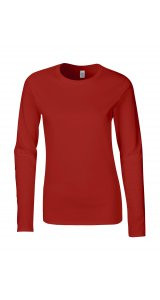 Softstyle® Ladies´ Long Sleeve T-Shirt [Red, S]